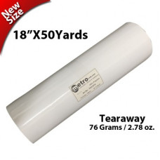 Tearaway Stabilizer 18X50 yards Roll 76 Grams- 2.68 oz